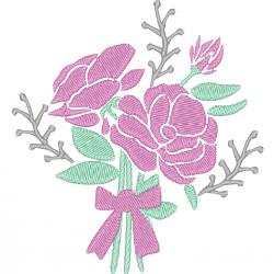Trapunto rose