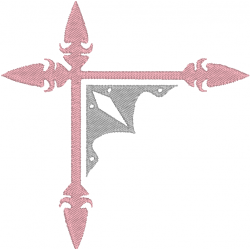 Cadre angle épée