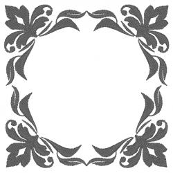 Cadre gris floral