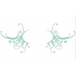 Cadre baroque Vert