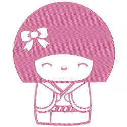 Kokeshi souriante