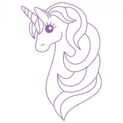 Licorne redwork