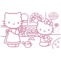 Grand tableau Hello Kitty