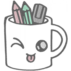 Tasse à crayon Kawaii