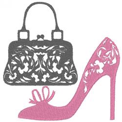 Chaussure à talon et sac