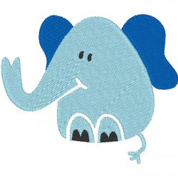 Éléphant bleu naissance
