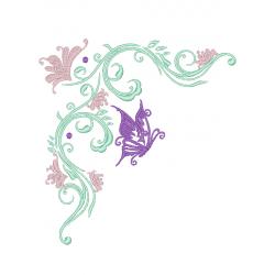 Cadre ornement papillon