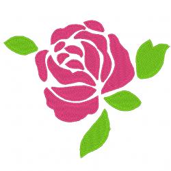 Rose et feuille