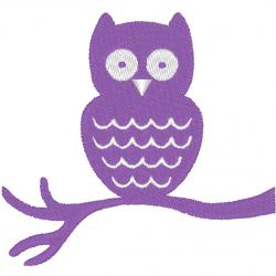 Hibou violet