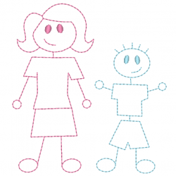 Dessin d'enfant redwork