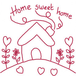 Home sweet home redwork