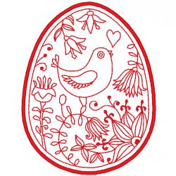 Oeuf et oiseau de Pâques