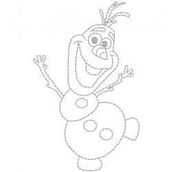 Olaf redwork