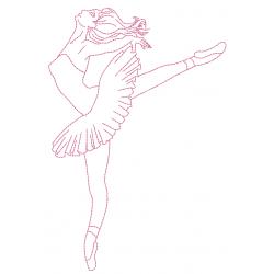 Danseuse étoile redwork