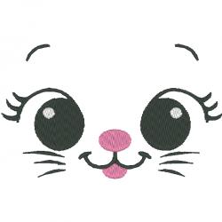 Tête de chaton fille