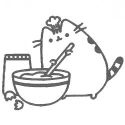 Pusheen en cuisine
