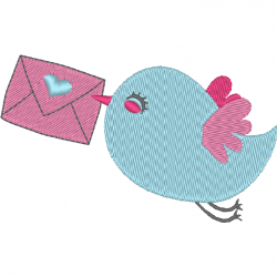 Oiseau et carte postale