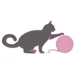 Chat à la pelote