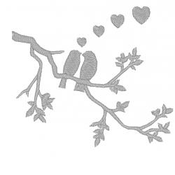 Motif Oiseaux amoureux