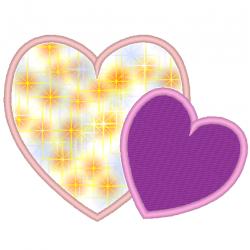 2 cœurs en appliqués