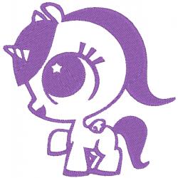 Licorne kawaii violette
