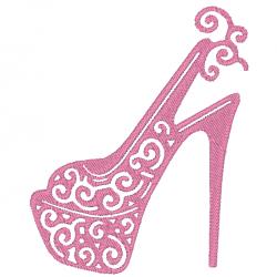 Chaussure compensée à talon