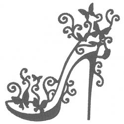 Chaussure talon et papillon