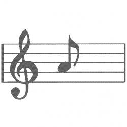 Note de musique - Portée