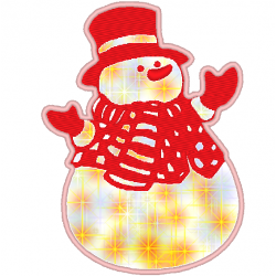 Bonhomme de neige en appliqué