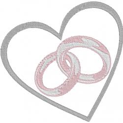 Alliances de mariage au coeur